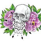 Skull & Peonies by Flaminggun