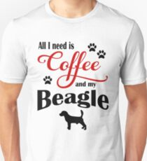 Coffee and my Beagle Unisex T-Shirt