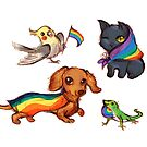Pride Animals Quartet by alulawings