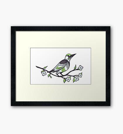 Pride Birds - Agender Framed Print