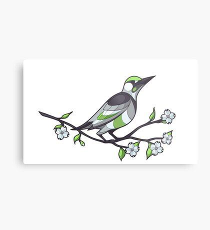 Pride Birds - Agender Metal Print