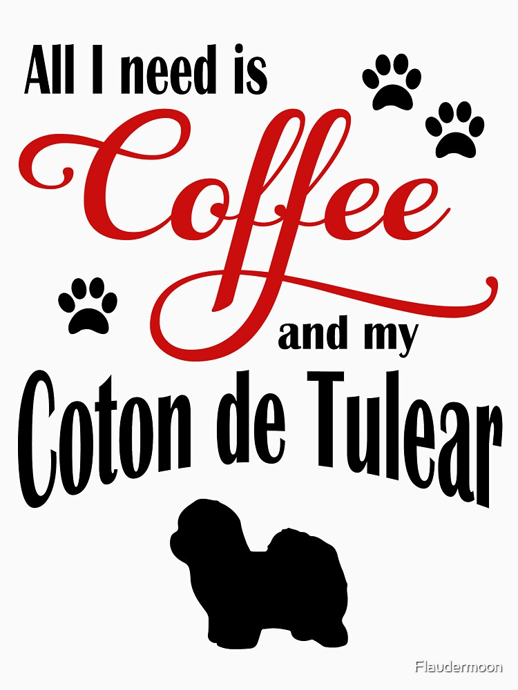 Coffee and my Coton de Tulear by Flaudermoon