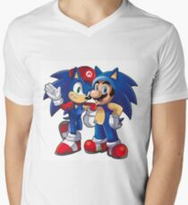 Sonic The Hedgehog Men's V-Neck T-Shirt