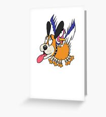 Duck Hunt The Cowardly Duo Greeting Card