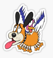Duck Hunt The Cowardly Duo Sticker