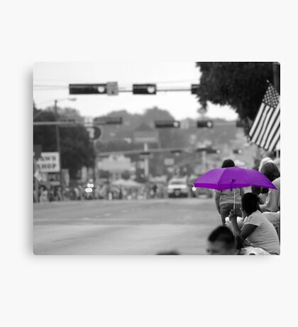 Waiting On The Parade Canvas Print