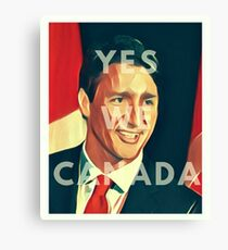 Justin Trudeau Yes We Canada Canvas Print