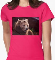 bear, portrait Womens Fitted T-Shirt