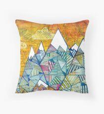 Maps and Mountains Throw Pillow