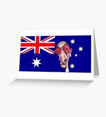 Insomniac Goes to Australia Greeting Card