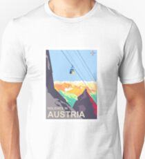 Austria Holiday, winter season, alps, mountains, travel poster T-Shirt