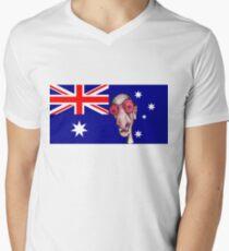 Insomniac Goes to Australia Men's V-Neck T-Shirt