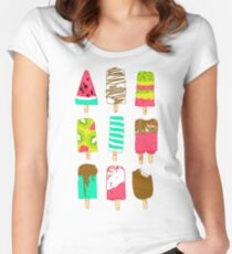 Ice Cream Time Women's Fitted Scoop T-Shirt