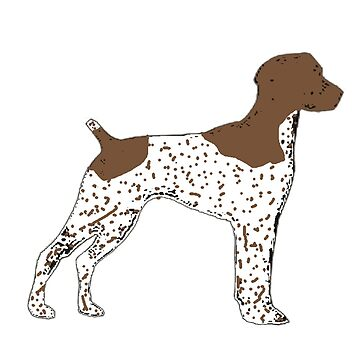 german shorthaired pointer liver and white silhouette by marasdaughter