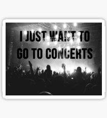 concerts pls Sticker