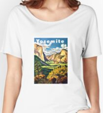 Yosemite, National Park, vintage travel poster Women's Relaxed Fit T-Shirt