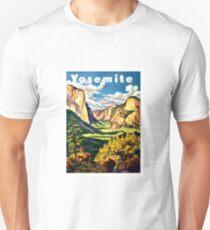 Yosemite, National Park, vintage travel poster Unisex T-Shirt