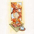 Aang von Avatar der letzte Airbender Tee trinken von Meghan Zaremba
