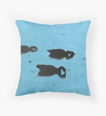 Duck Siloette 2 Throw Pillow