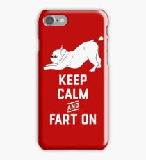 Keep Calm and Fart On with the cute French Bulldog iPhone Case/Skin