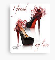 I found my love Canvas Print