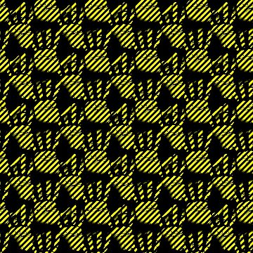 Palm clipart pattern, handprint, construction lines by cool-shirts