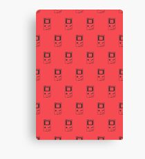 Minimal Gameboy DMG-01 (radiant red) Canvas Print