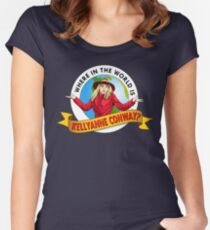 Where In the World is Kellyanne Conway? Women's Fitted Scoop T-Shirt