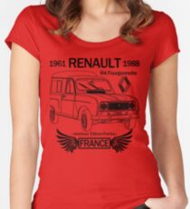 Renault R4 Fourgonette Women's Fitted Scoop T-Shirt