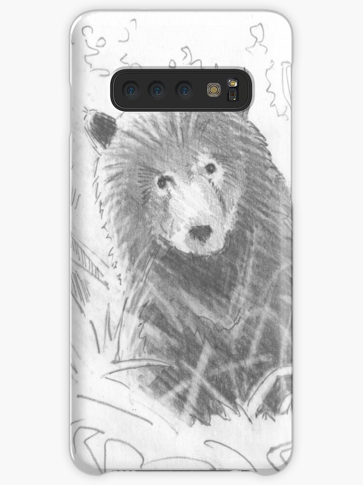 Fundavinilo Para Samsung Galaxy Grizzly Bear Cub Drawing De Mikejory