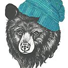 zissou the bear in blue by lauragraves