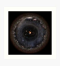 Beobachtbares Universum größeres SSystem! (schwarzer Hintergrund) Kunstdruck