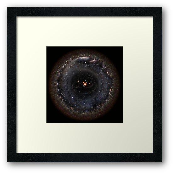 Observable Universe bigger SSystem! (black background) by Pablo Carlos Budassi