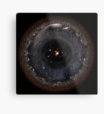 Observable Universe bigger SSystem! (black background) Metal Print