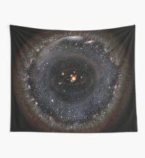 Observable Universe bigger SSystem! (black background) Wall Tapestry