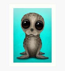 Cute Baby Seal Pup Art Print