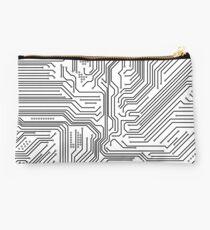 White Circuitry Studio Pouch