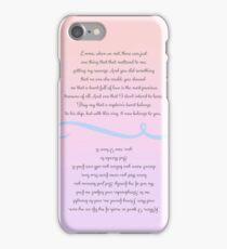 Captain Swan Wedding Vows iPhone Case/Skin