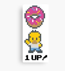 Pixelated Homer Canvas Print