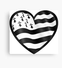 Breton flag heart Canvas Print
