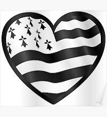 Breton flag heart Poster