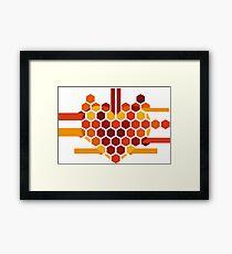 Honeycomb hexacon hearth  Framed Print