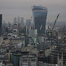 London Skyline in WInter - St.Paul's to Canary Wharf by seymourpics