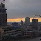 London Skyline in WInter - St.Paul's to London Eye by seymourpics