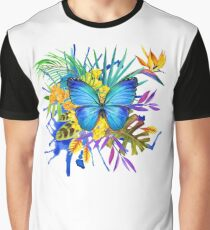 Vintage Butterfly Color Splash  Graphic T-Shirt