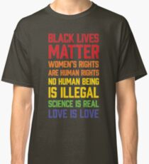 LGBT t shirts - Black Lives Matter Women's Rights Are Human Classic T-Shirt