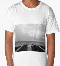 black and white beach path Long T-Shirt