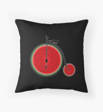 Watermelon bicycle  Throw Pillow