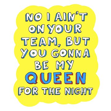 Queen for the Night sticker by mimeomia