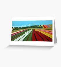 Tulip Farm, Table Cape Greeting Card
